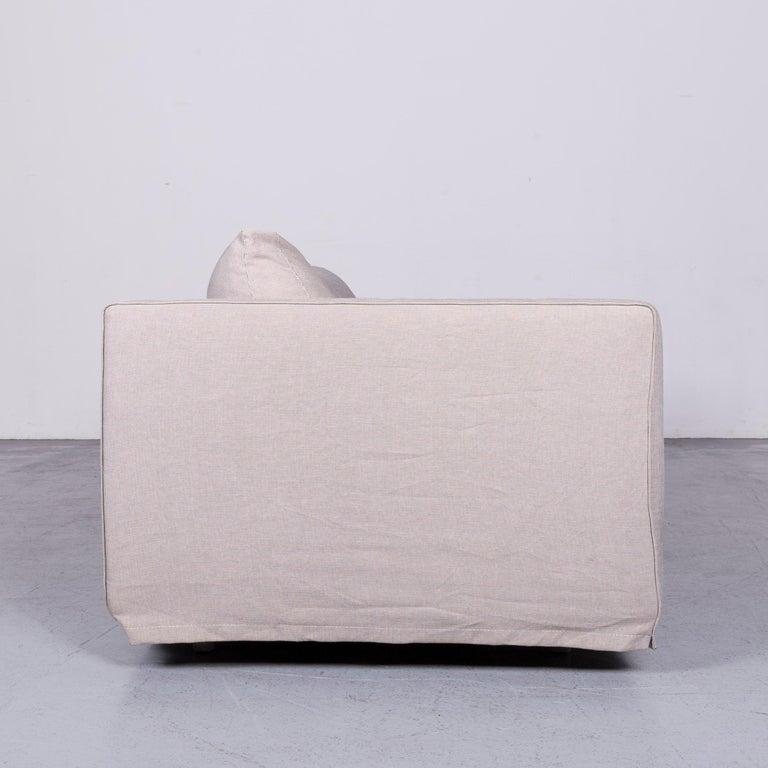 B&B Italia Basiko Fabric Sofa Grey Two-Seat Couch 3