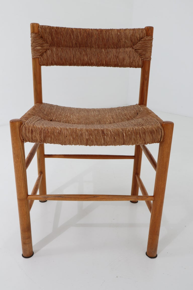 "Four ""Dordogne"" Chairs by Charlotte Perriand for Robert Sentou For Sale 2"