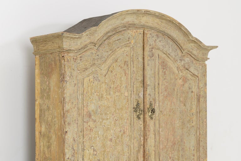 18th Century Swedish Baroque Period Secretary with Library in Original Paint For Sale 3
