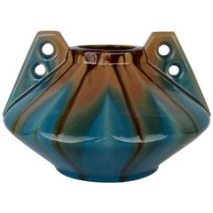 Large Art Deco Vase by Faiencerie Thulin of Belgium