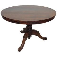 19th Century English Mahogany Tilt-Top Round Table