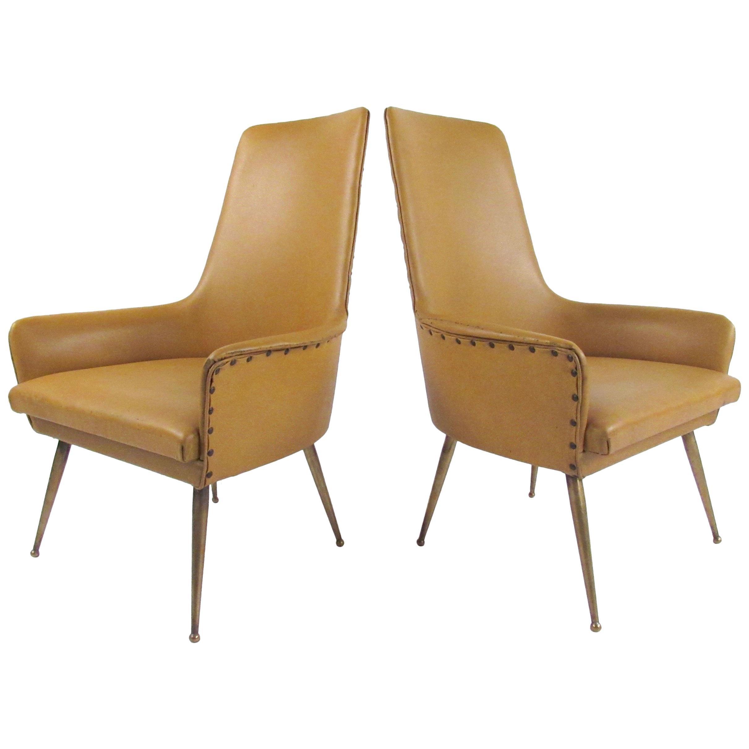 Pair of Italian Modern Side Chairs, circa 1950s