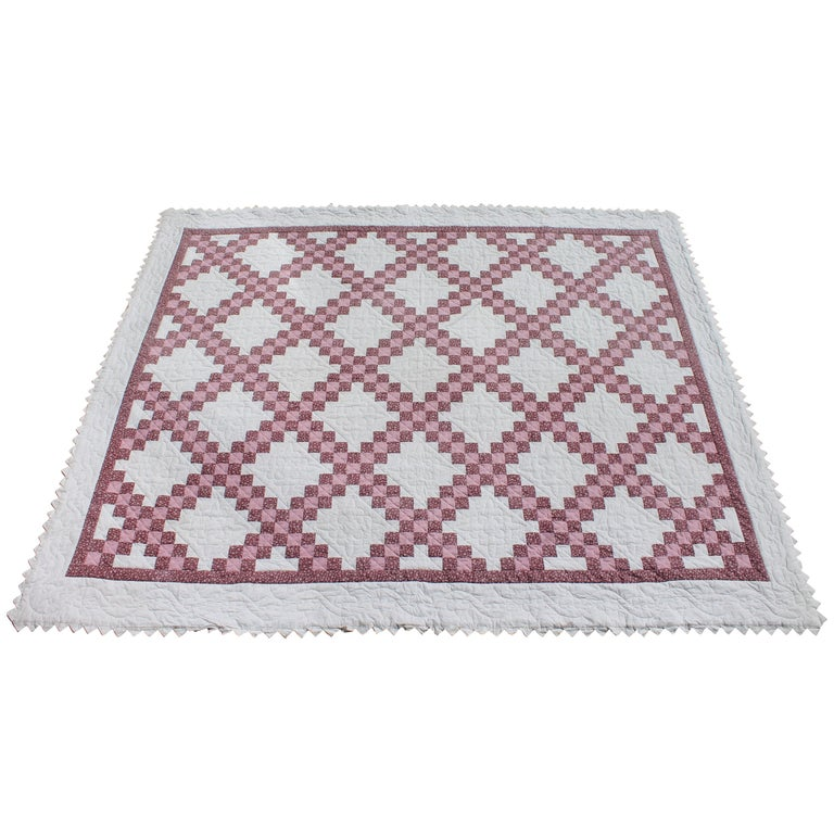 Irish Chain Quilt King Size For Sale