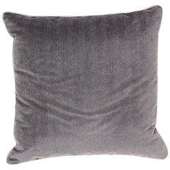 Brabbu Coriolus Pillow in Textured Gray Velvet