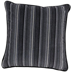 Brabbu Versicolor Pillow in Gray Velvet with Stripe Pattern