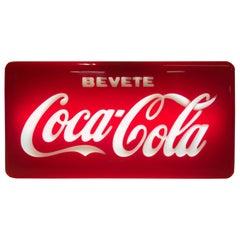 1960s Vintage Italian Bevete Coca-Cola 'Drink Coca-Cola' Illuminated Sign