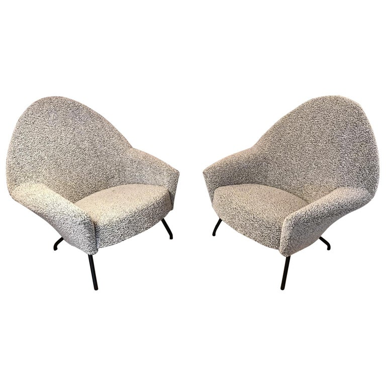 Armchairs Model 770 by Joseph-André Motte For Sale