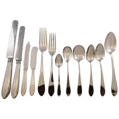 Pointed End by AJ Stone Sterling Silver Flatware Service Set Dinner 218 Pieces