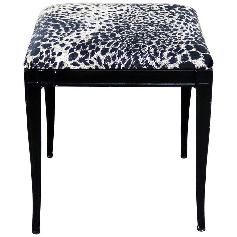 Incredible Black Art Deco And Animal Print Bench Ottoman Footstool Cast Aluminum By Crucibl Dailytribune Chair Design For Home Dailytribuneorg