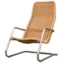 Rare Dirk van Sliedregt Rattan Lounge Chair