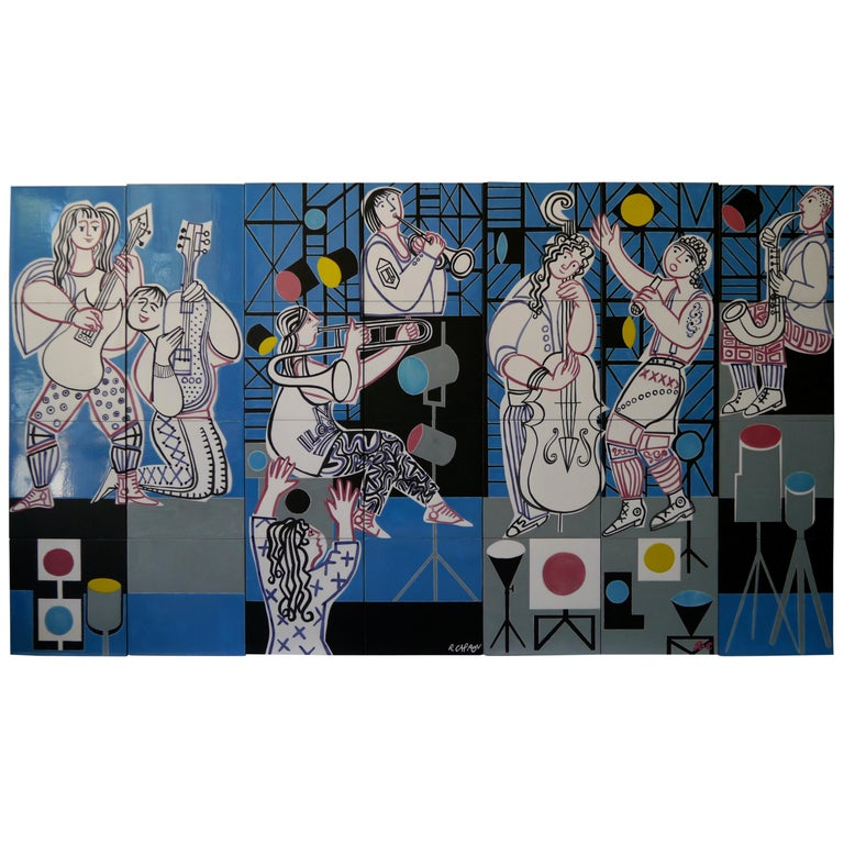 Roger Capron, Wall Decoration, Unique Piece, Italy, 1987 For Sale