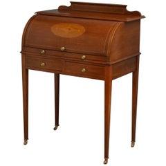 Elegant Edwardian Mahogany Bureau, Writing Table