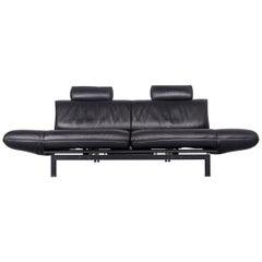 De Sede Ds 140 Designer Leather Sofa Black Three-Seat Function Modern