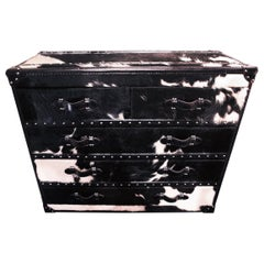 Wild Black and White Cowhide High Chest