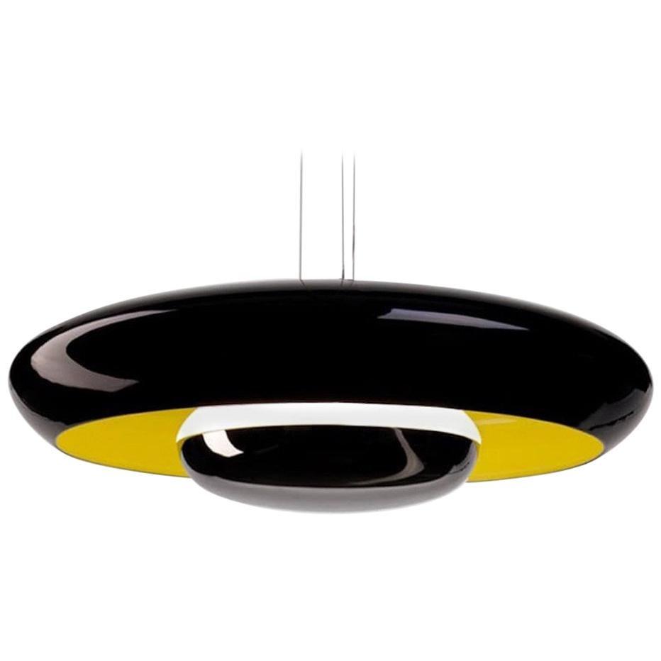 Established & Sons Glossy Black Corona Pendant Light by Pam West & Matt Edmonds