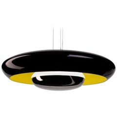 Established & Sons Glossy Black Corona Pendant Light by Pam West & Matt Edmonds