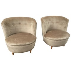 Barrel Chairs in the Style of Billy Haines