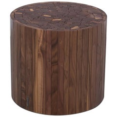 Round Stoolen by Uhuru Design in Black Walnut Stool or Coffee Table