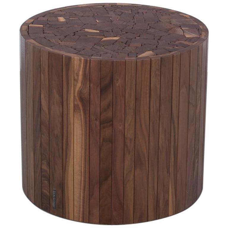Round Stoolen By Uhuru Design In Black Walnut Stool Or
