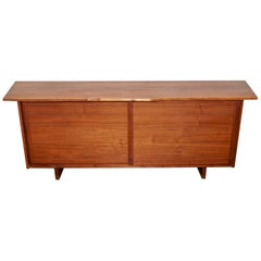 George Nakashima Free Edge Sliding Door Cabinet