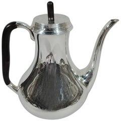 Danish Modern Sterling Silver Coffeepot by Svend Toxvaerd