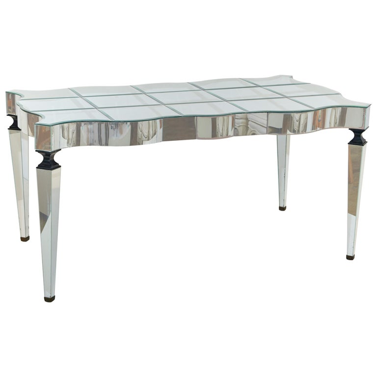William Haines Mirrored Table Made for Joan Crawford For Sale