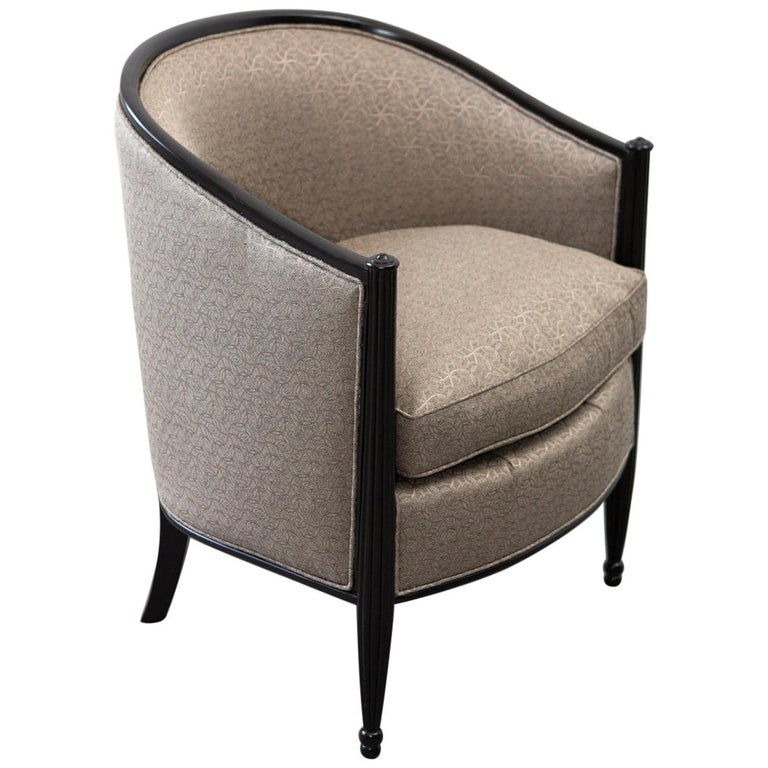 French Art Deco Tub Chair For Sale