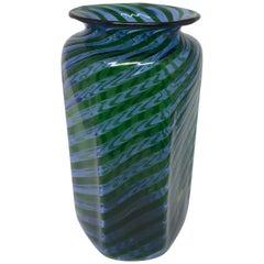 Blue Green Nason Moretti Murano Vase