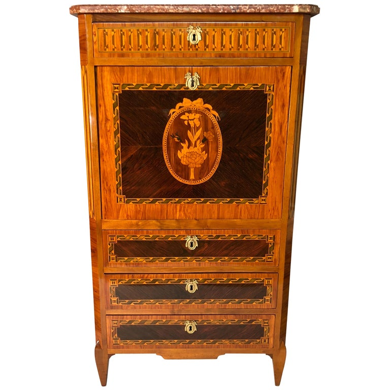 Louis XVI Fall Top Secretaire, France, 1780-1800 For Sale
