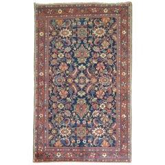 Blue Antique Persian Mahal Carpet
