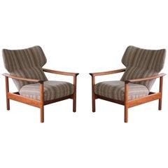 Pair of Danish Midcentury Easy Chairs in Teak