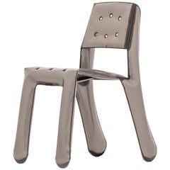 Limited Edition Chippensteel 0.5 Chair in Raw Lacquered Steel by Zieta
