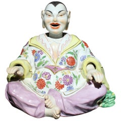 Antique Meissen Porcelain Articulated Nodder Nodding Head Pagoda Figure