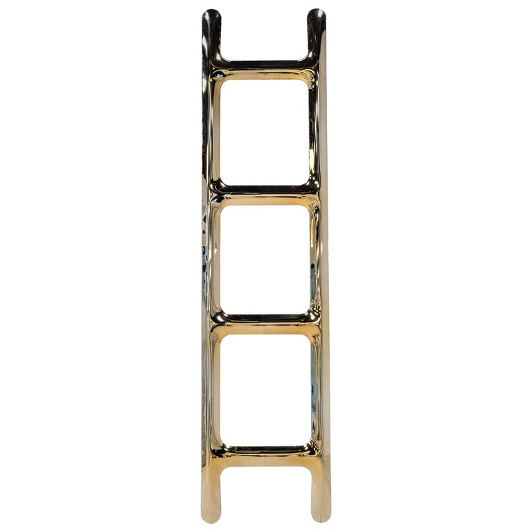 Heat Collection Drab Hanger in Gold Stainless Steel by Zieta For Sale