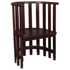 Arts & Crafts Prairie Frank Lloyd Wright School Mahogany Spindle Chair