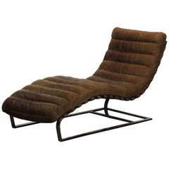 Oviedo Leather Chaise by Restoration Hardware