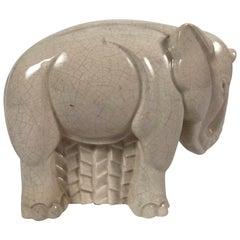 Art Deco Ceramic Elephant Sculpture