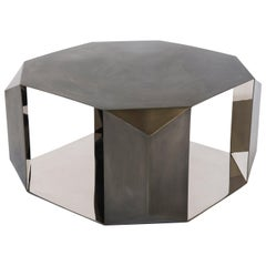 Donghia Origami Cocktail Table in Stainless Steel and Polished Mirror Finish