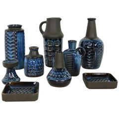 Collection of Midcentury Ceramics Vases & Bowls Einar Johansen for Soholm, 1960s