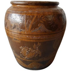 Early 20th Century Chinese Terracotta Vase, Large Model