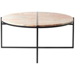 Contemporary Coffee Table, Orobico Marble, Minimalist, Modern, Unique, Round