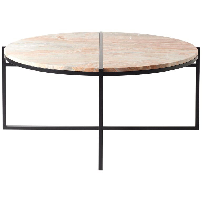 Colorful Modern Coffee Table: Contemporary Coffee Table, Orobico Marble, Minimalist