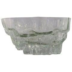 Iittala, Tapio Wirkkala Huge Art Glass Bowl, Model Number 3543