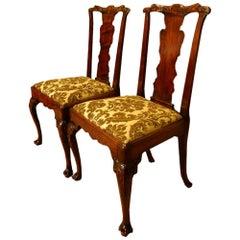 George III Walnut Chairs