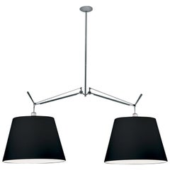 Artemide Tolomeo Black Double Pendant Lamp