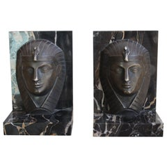 Pair of Art Deco Bookends Signed C. Charles, 1930