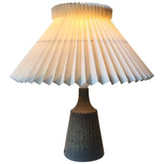 Unique Scandinavian Ceramic Table Lamp in Crystalline Glazes by Rolf Palm, 1960s