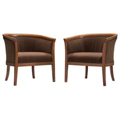 Classic Brown French Chairs, 1940s