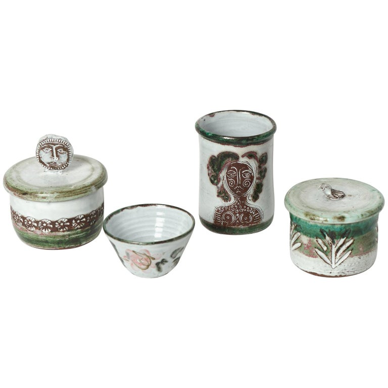 Albert Thiry Ceramic Set Vallauris, 1950 For Sale