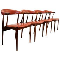 Vintage Johannes Andersen Palisander Armrest Chairs, Set of Four